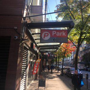 Make Contact , Underground parking entrance