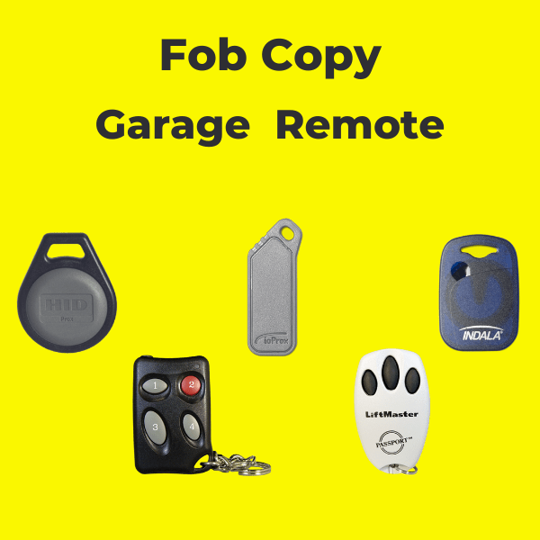 fob copy and garage remote duplication services