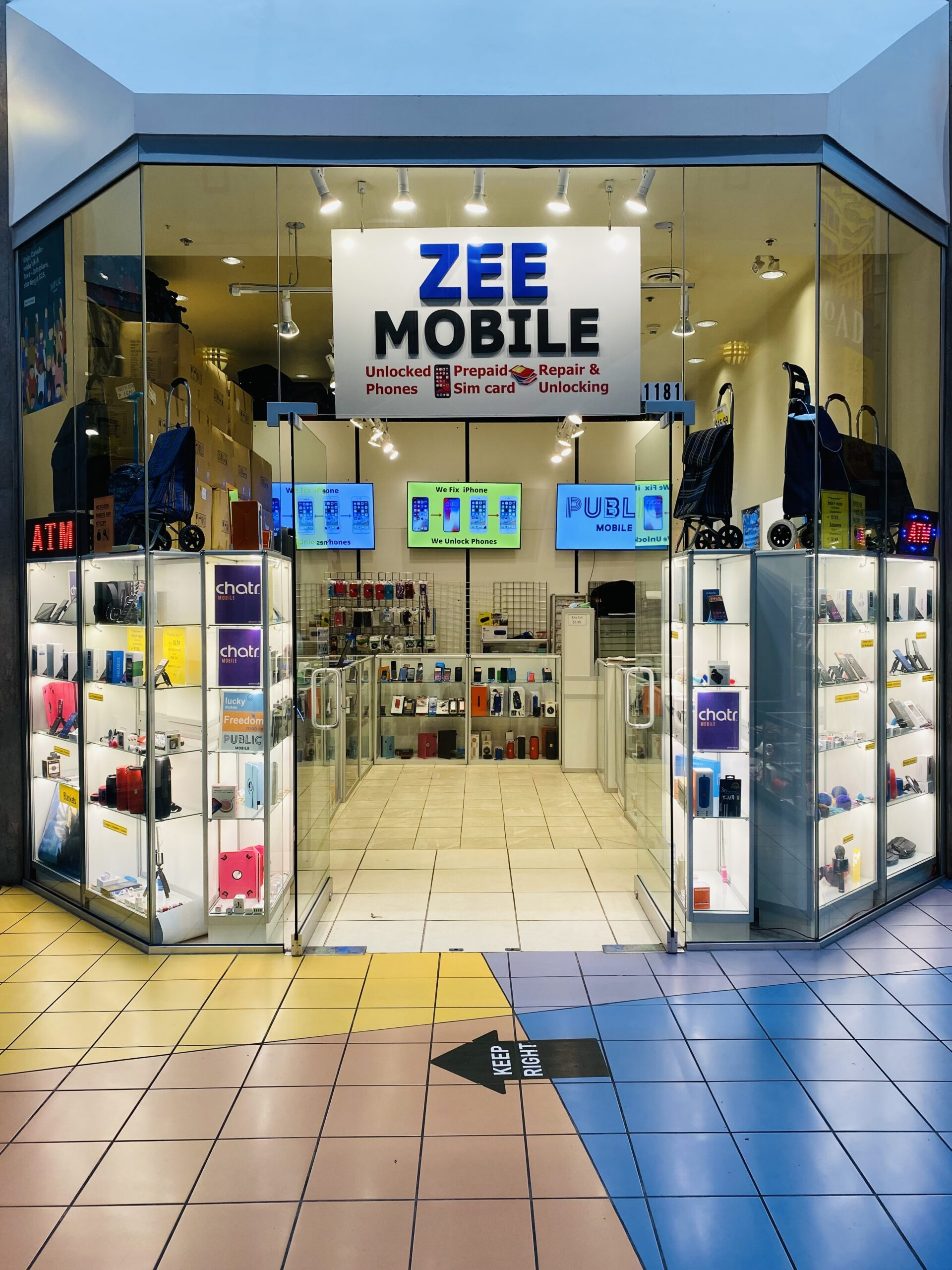 exterior photo of Zee mobile in downtown vancouver